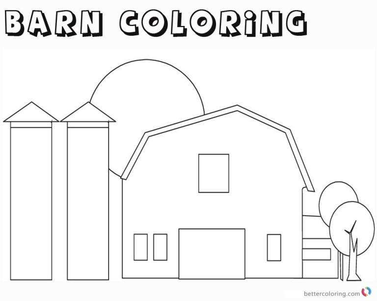 Barn Color Sheet