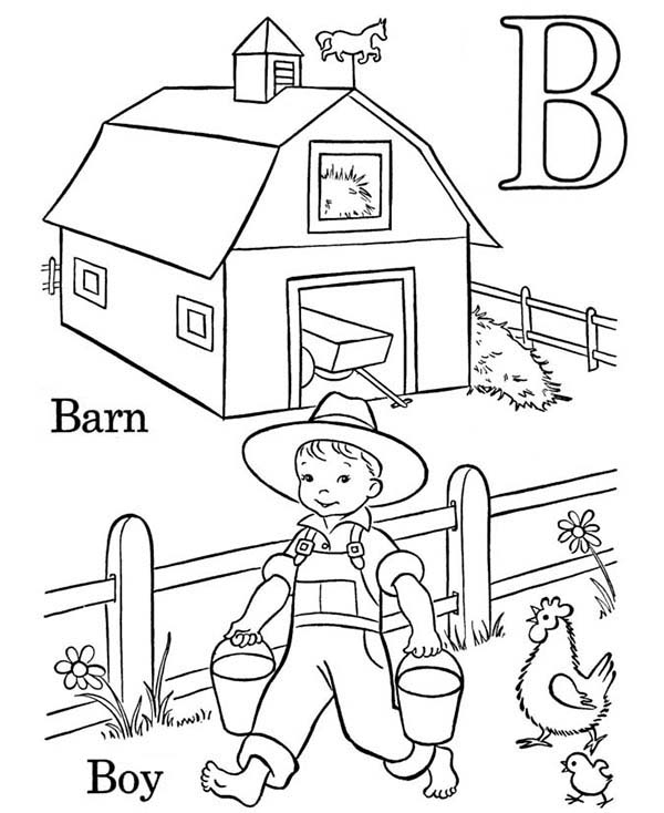 Barn Pictures To Color