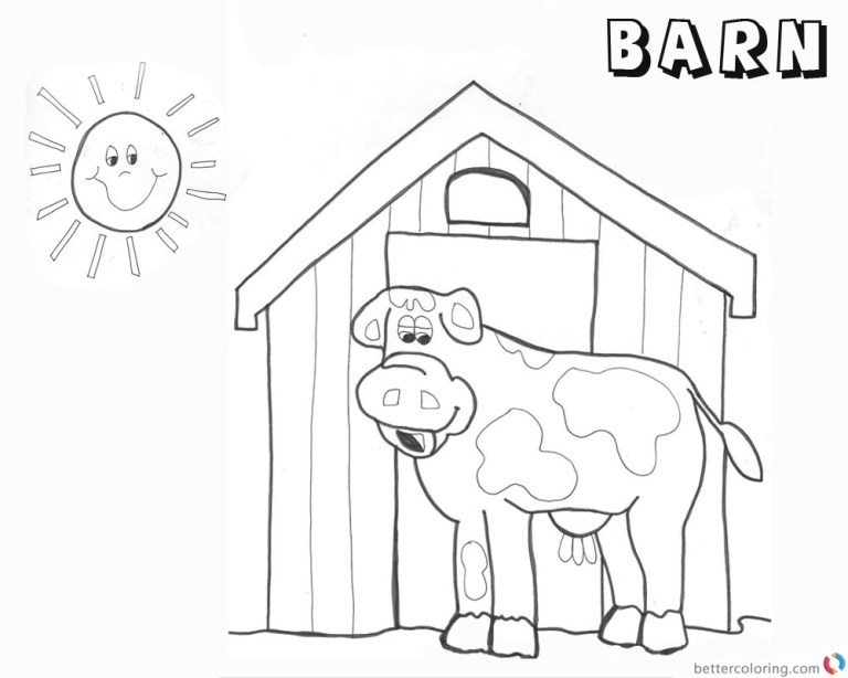 Barn To Color