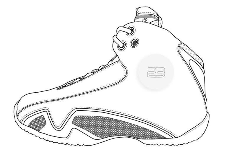 Basketball Shoes Coloring Pages