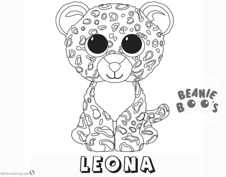Beanie Baby Coloring Pages