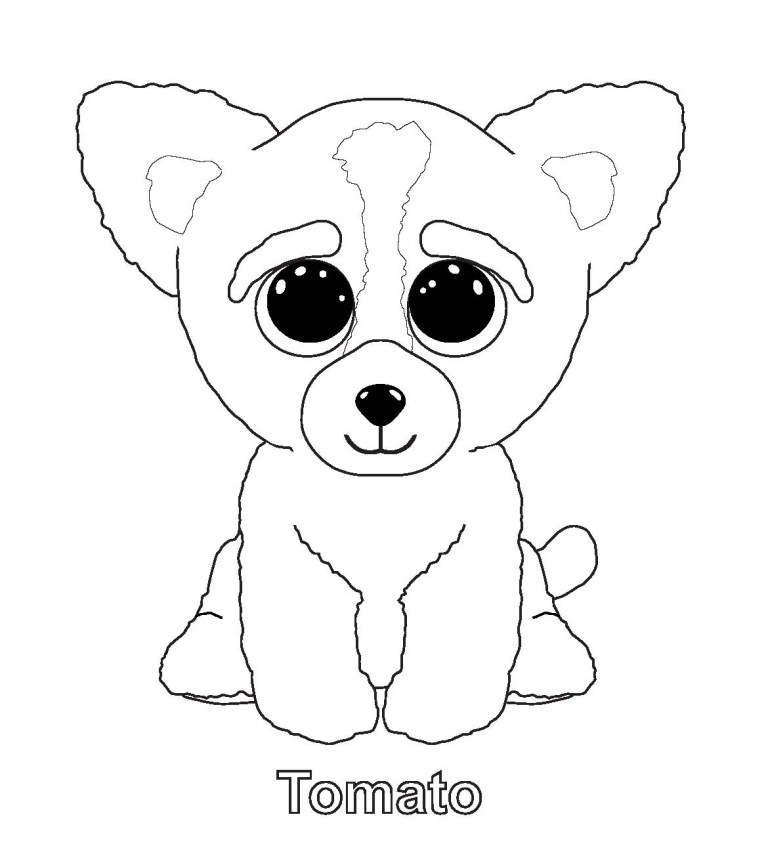Beanie Boo Coloring Pages Free