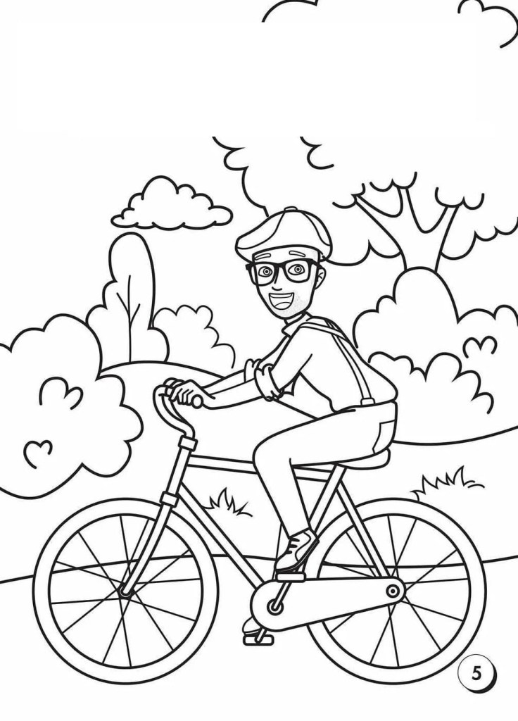 Blippi Coloring Page Free Printable