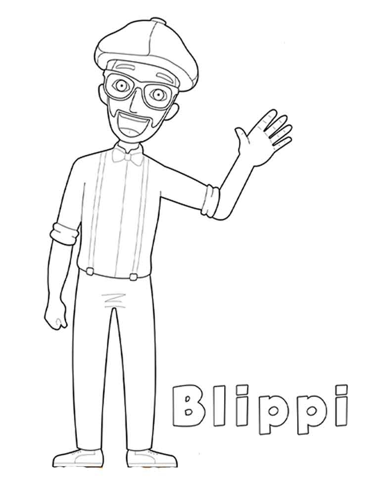 Blippi Coloring Pages Printable