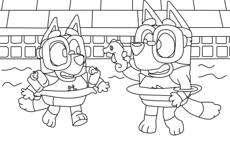 Bluey Coloring Pages Free Printable