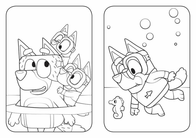 Bluey Pictures To Color