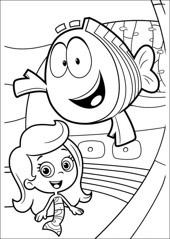 Bubble Guppies Color Pages