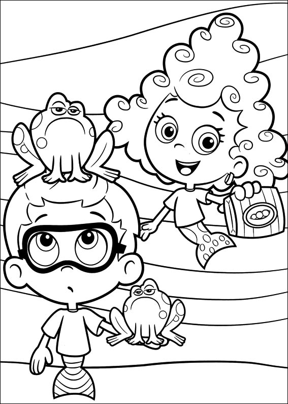 Bubble Guppies Molly Coloring Pages