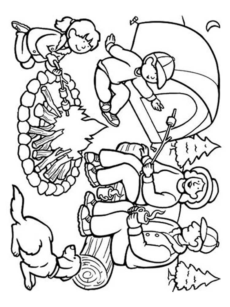 Camping Coloring Picture