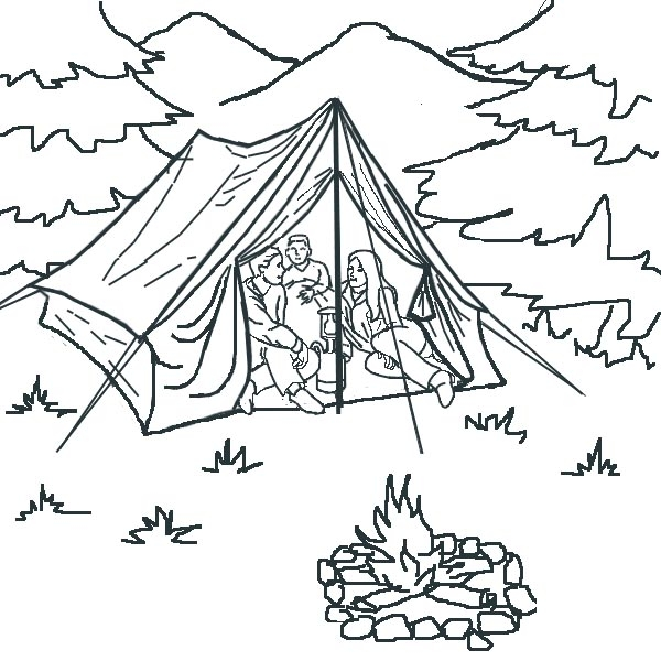 Camping Colouring Pictures