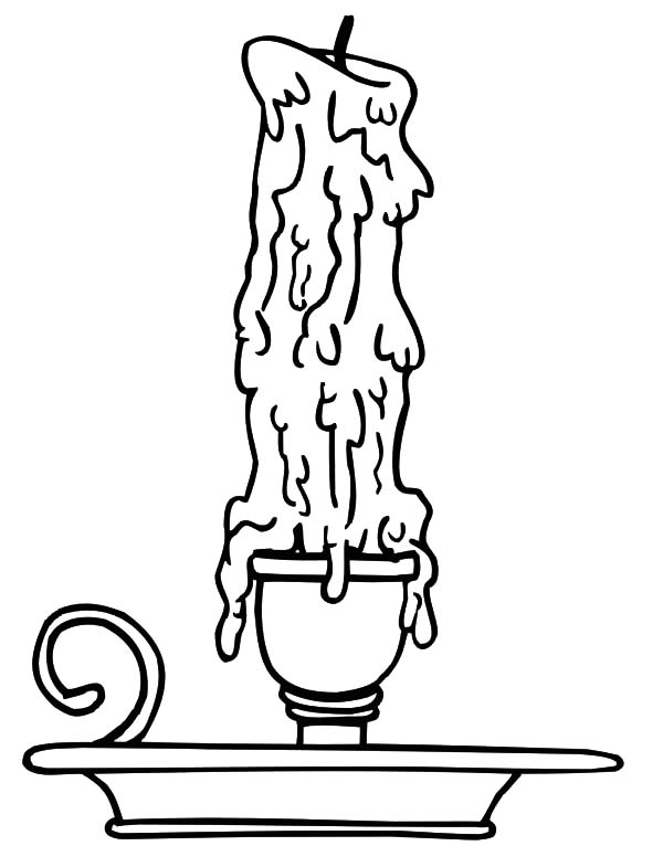 Candle Coloring Sheet