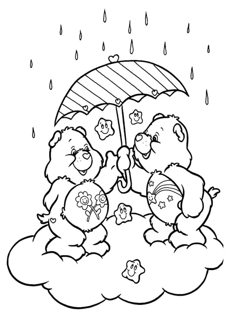 care bears umbrella coloring pages For High Schooler