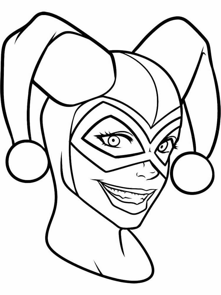 Chibi Harley Quinn Coloring Pages