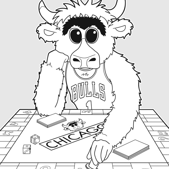 Chicago Bulls Coloring