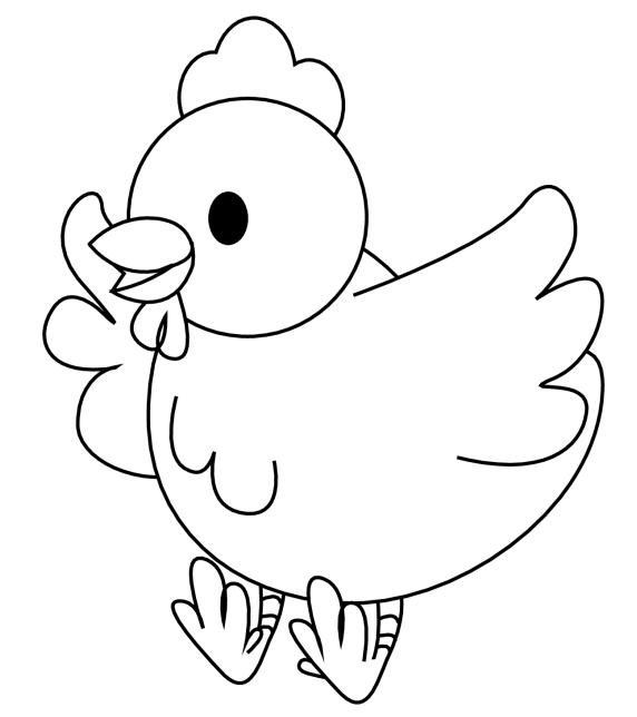 Chick free printable