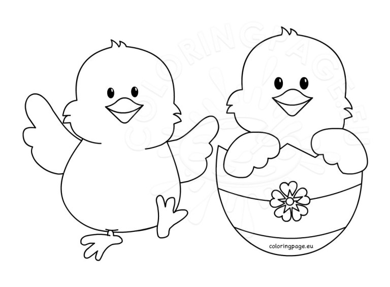 Chick Pictures To Color