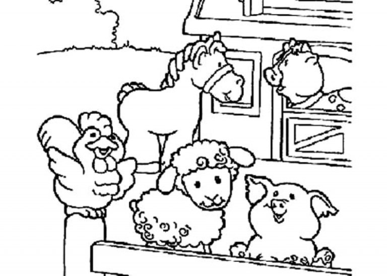 Coloring Book Pages Of Farm Animals