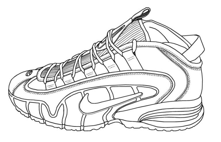 Coloring Jordans Shoe