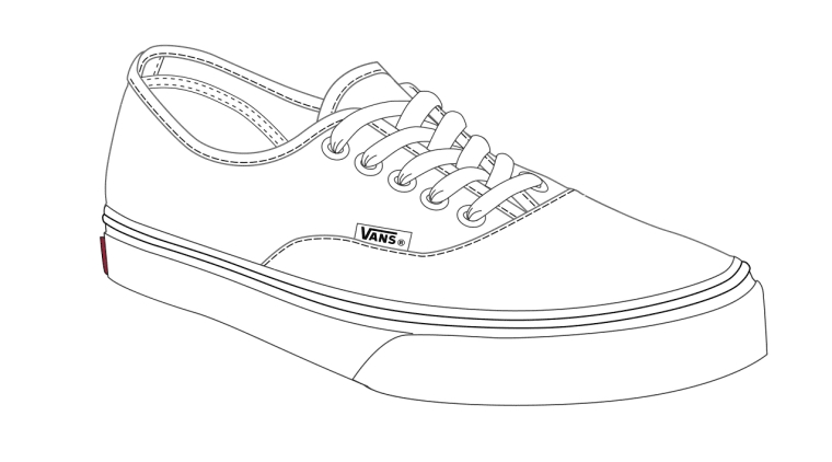 coloring page of vans shoe