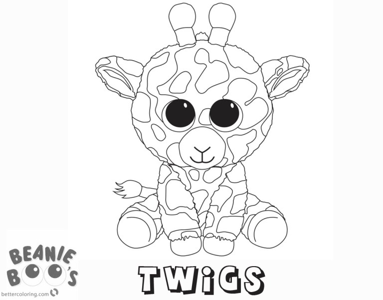 Coloring Pages Of Beanie Boos