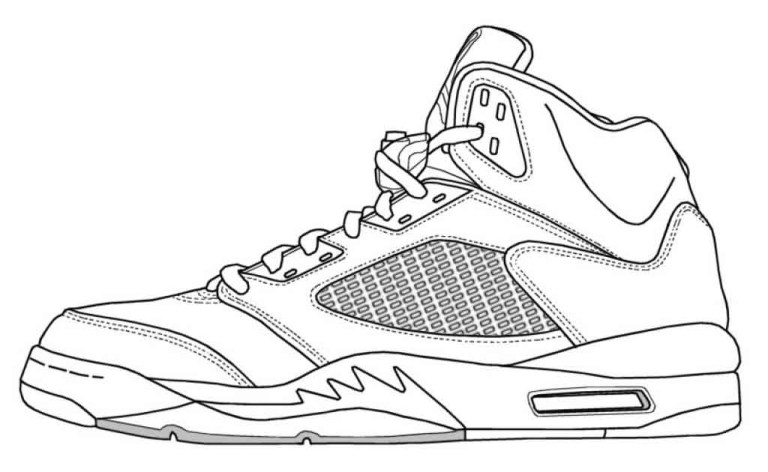 coloring pages of michael jordans shoes to printable free downloads