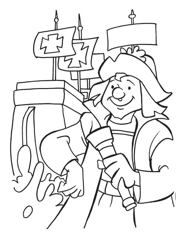 columbus day coloring sheets for kids gallery