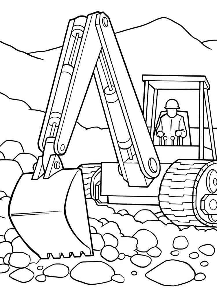 construction vehicles for download and print