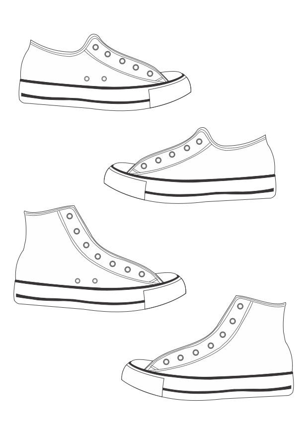 Converse Coloring Pages