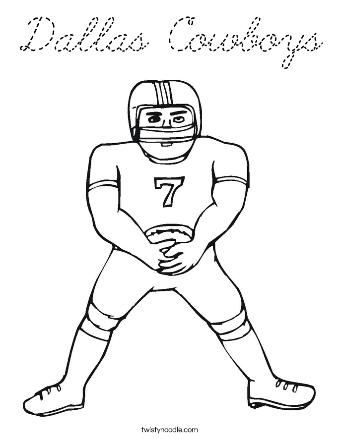 Cowboys Football Coloring Pages