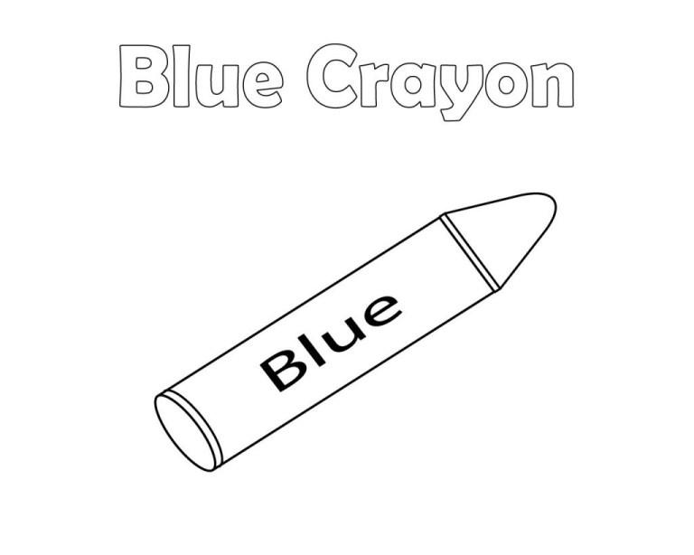 Crayon Color Page