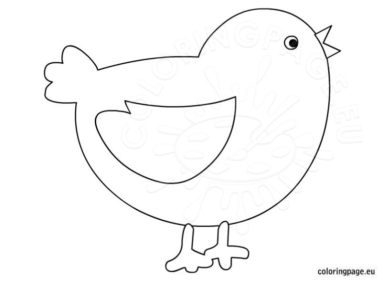 Cute Chick Coloring Pages