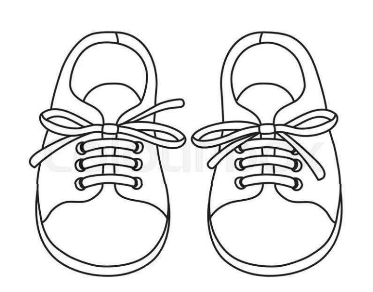 cute coloring pages for kids shoes to printable