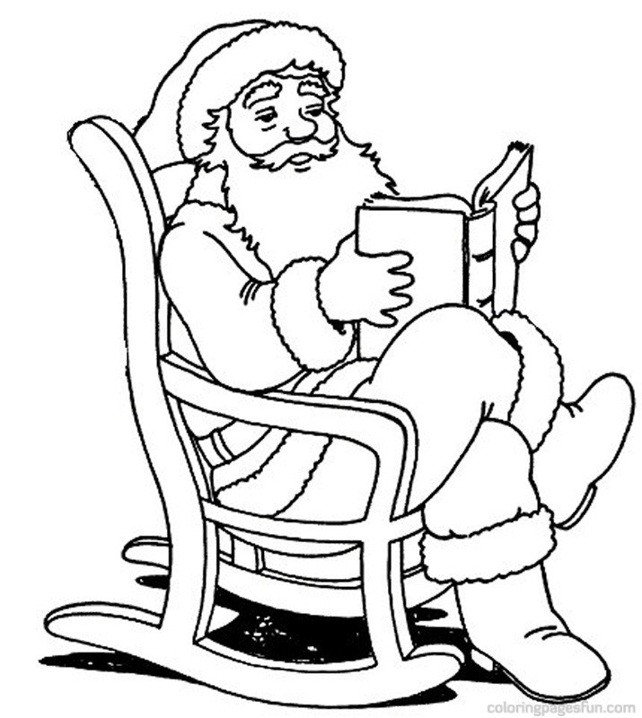 Cute Santa Claus Coloring Pages
