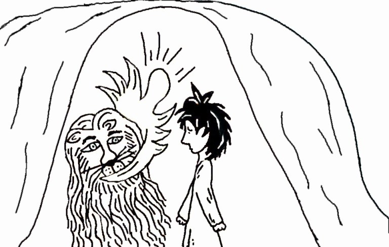 Daniel And The Lions Den Coloring Page Printable