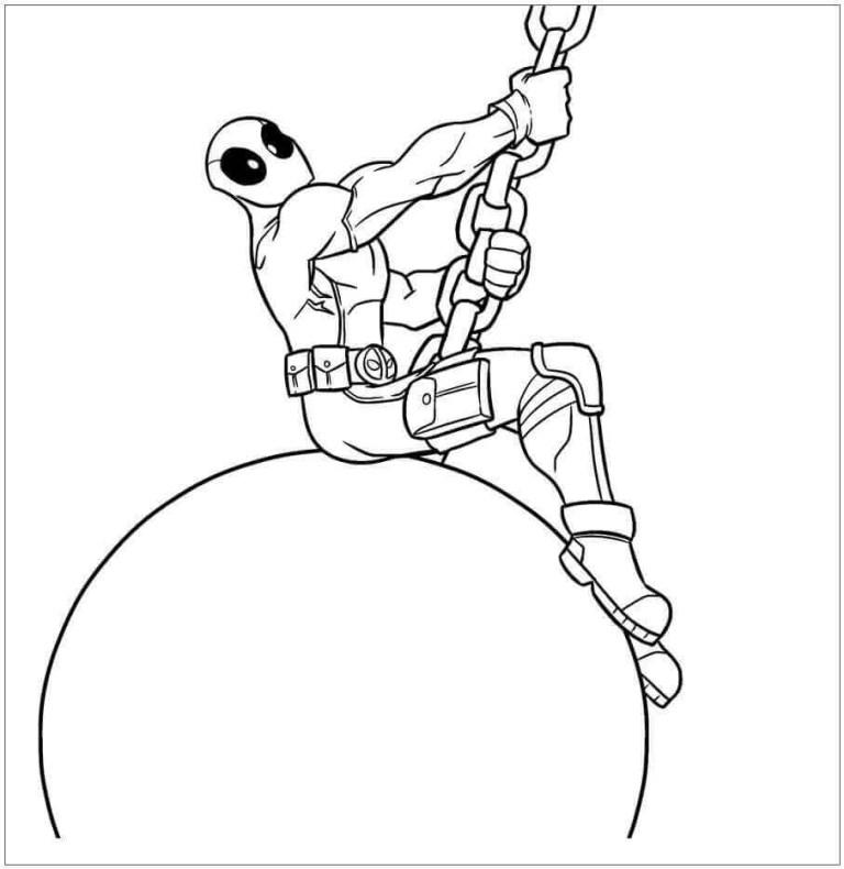 Deadpool Coloring Sheet