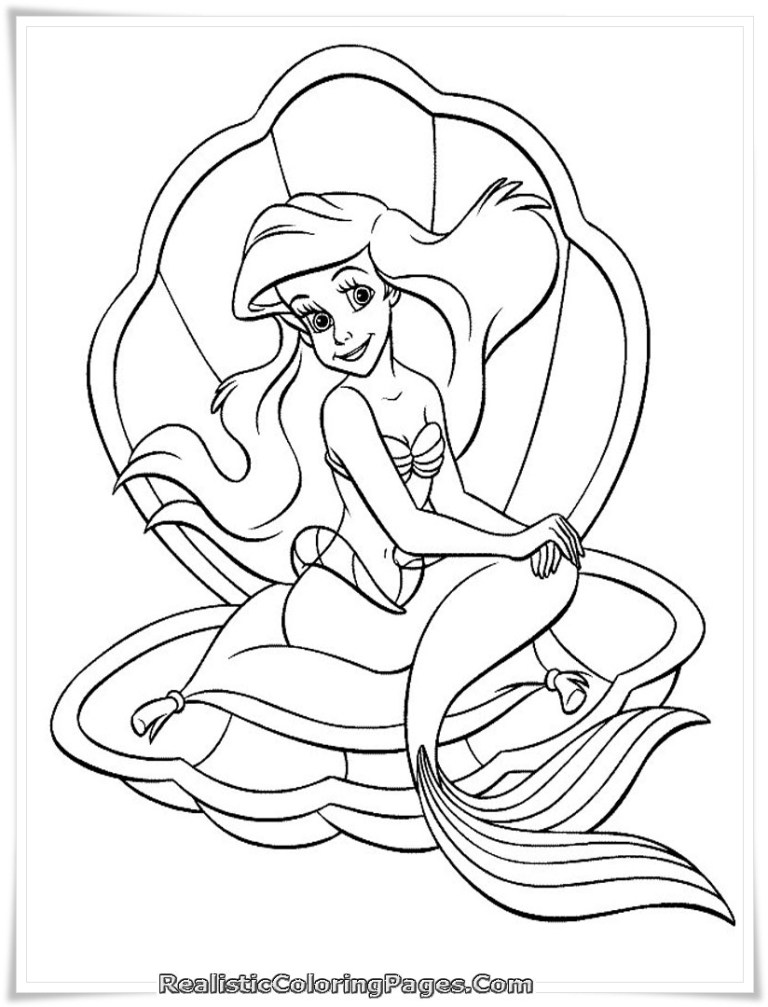 Detailed Mermaid Coloring Pages