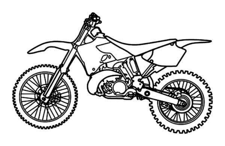 Dirt Bike Coloring Pages Online