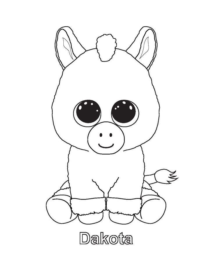 Dog Beanie Boo Coloring Pages