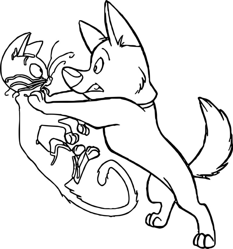 Dog Cat Coloring Pages