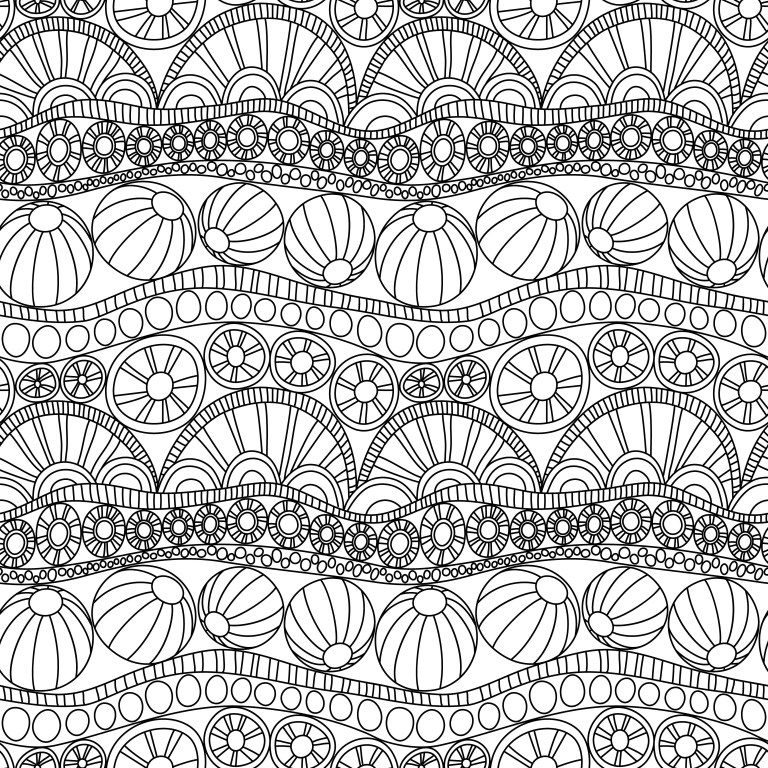 doodle abstract seamless ornament coloring page tutorial