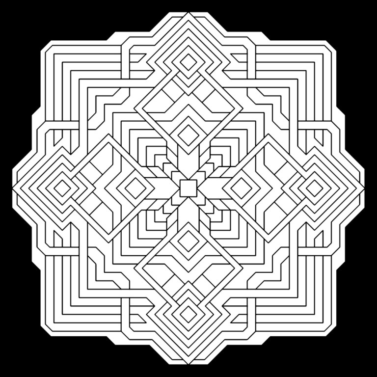 downloadable adult coloring pages fractals for boy