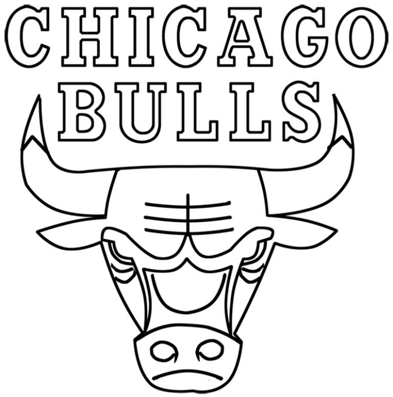 easy chicago bulls logo drawing online