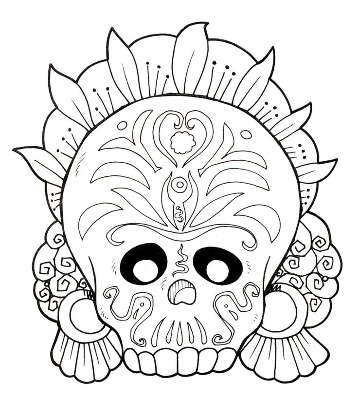 El Dia De Los Muertos Coloring Pages