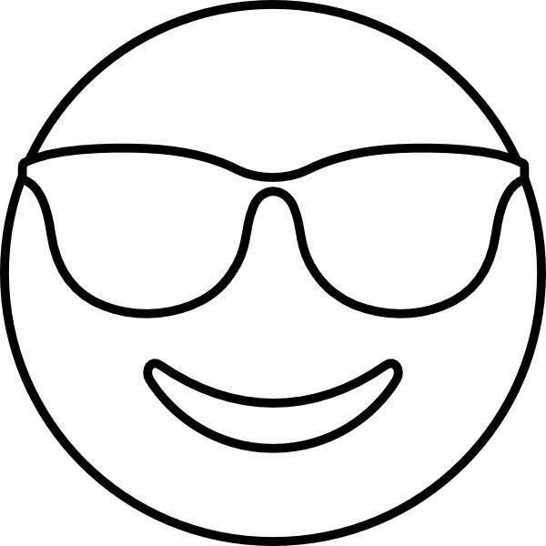 emoji sunglasses template