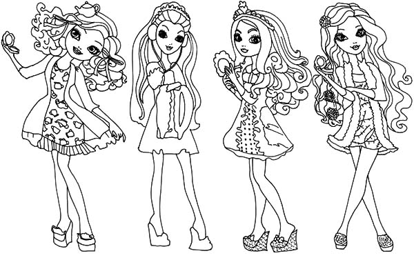 ever after high coloring pages download print online