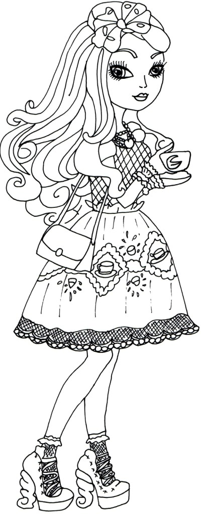 Ever After High Coloring Pages Lizzie Hearts