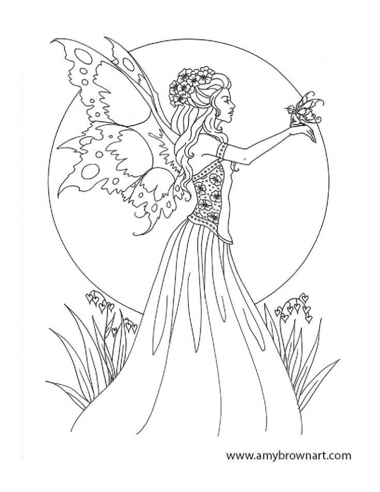 fairy coloring pages for adults printable