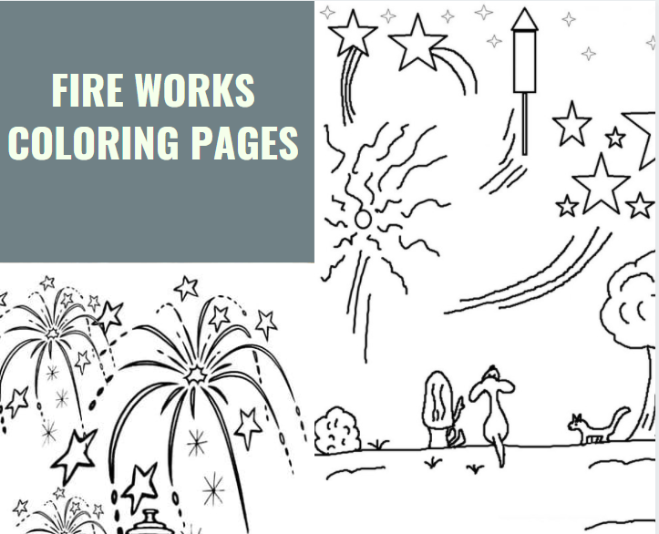 fire works coloring pages