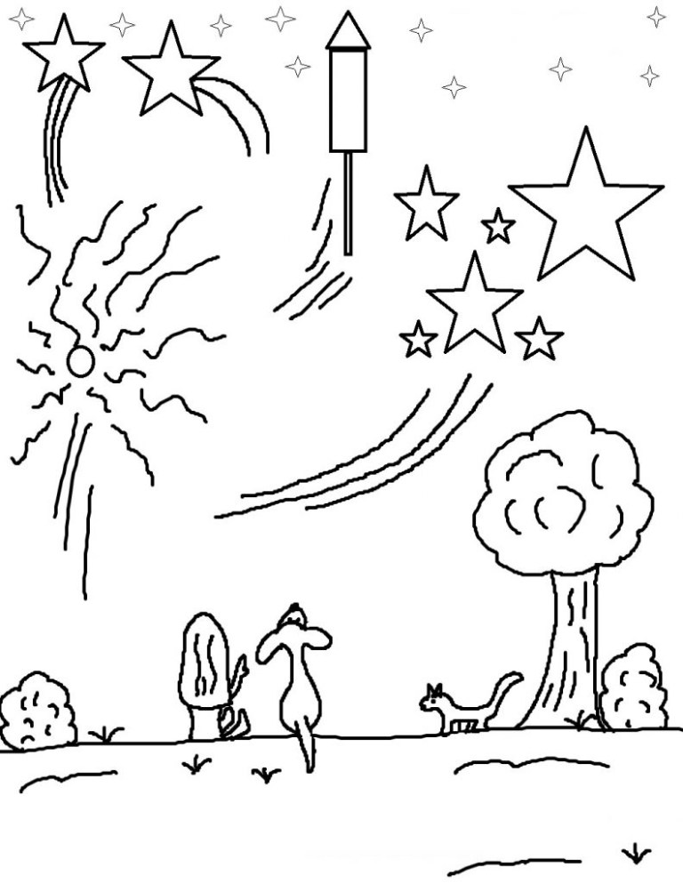 Firecracker Coloring Page