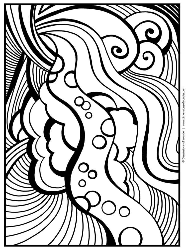 free abstract coloring page for adults printable to downloads